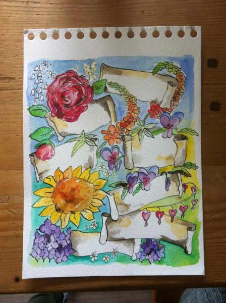 bloemenkaartje