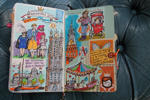 art journal koningsdag 2015