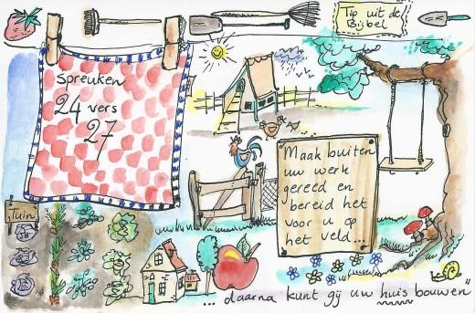 Bijbeltekst illustreren: tuin