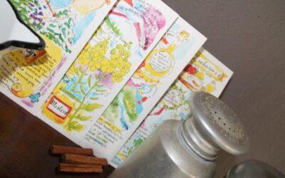 pittige kruidenkaarten -vers van de pers
