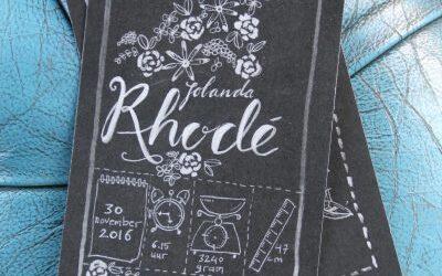 geboortekaartje Rhodé